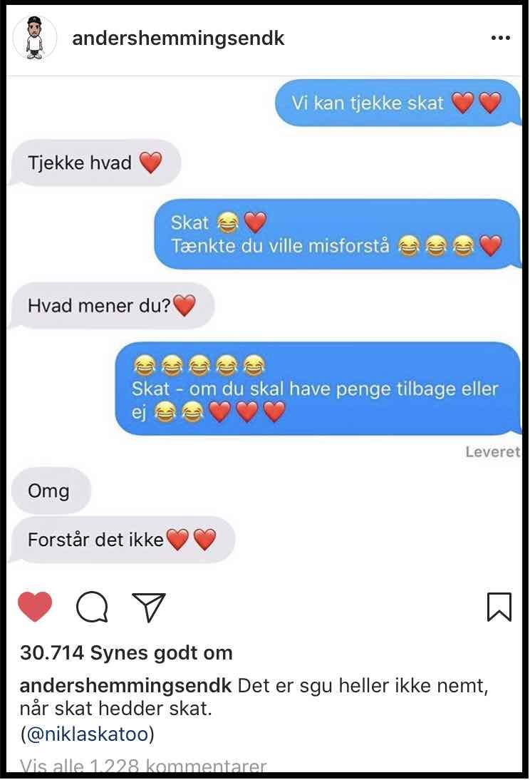 Endnu et foto fra Anders Hemmingsens profil på Instagram.