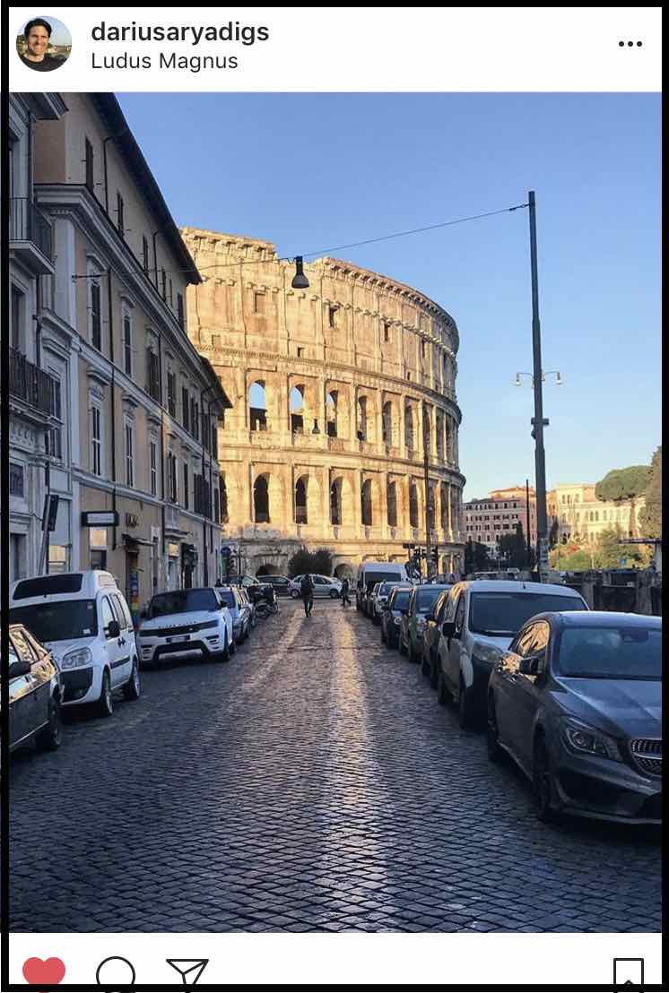 Darius Arya. Arkæolog i Rom. Skønne fotos på Instagram fra den evige stad.